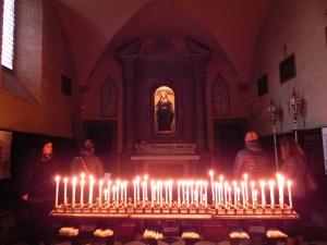 Inside the church in Volterra.