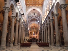 Inside the Pisa Cathedral.