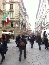 Walking down the streets of Florence