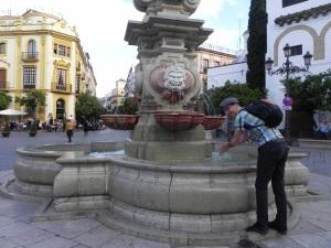 Hobo baths in fancy fountains