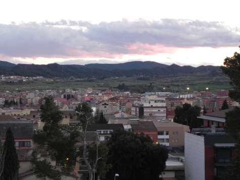 The view of downtown Igualada  from just outside our room