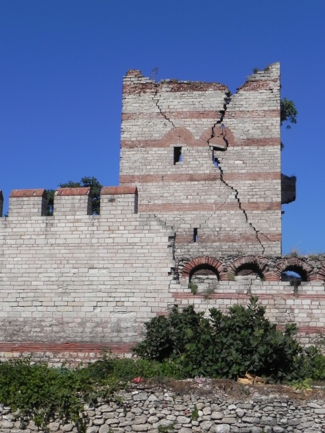 The city walls are largely neglected in Istanbul. Many of them are used as ramshackle domiciles and we step carefully to avoid the human excrement along the pathways.